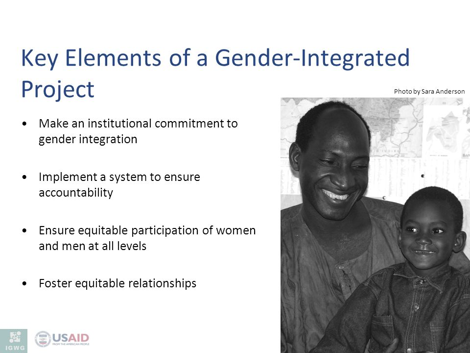 Key Elements of a Gender-Integrated Project
