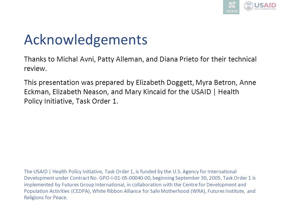 Acknowledgements Thanks to Michal Avni, Patty Alleman, and Diana Prieto for their technical review.