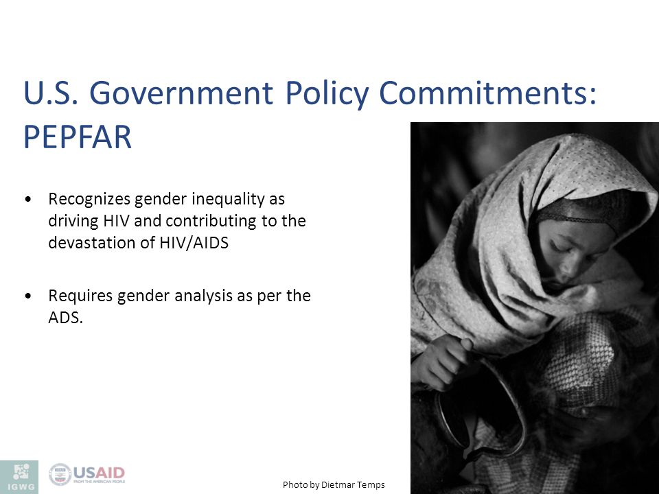 U.S. Government Policy Commitments: PEPFAR
