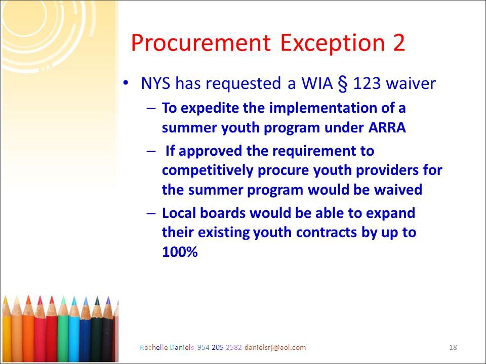 Procurement Exception 2