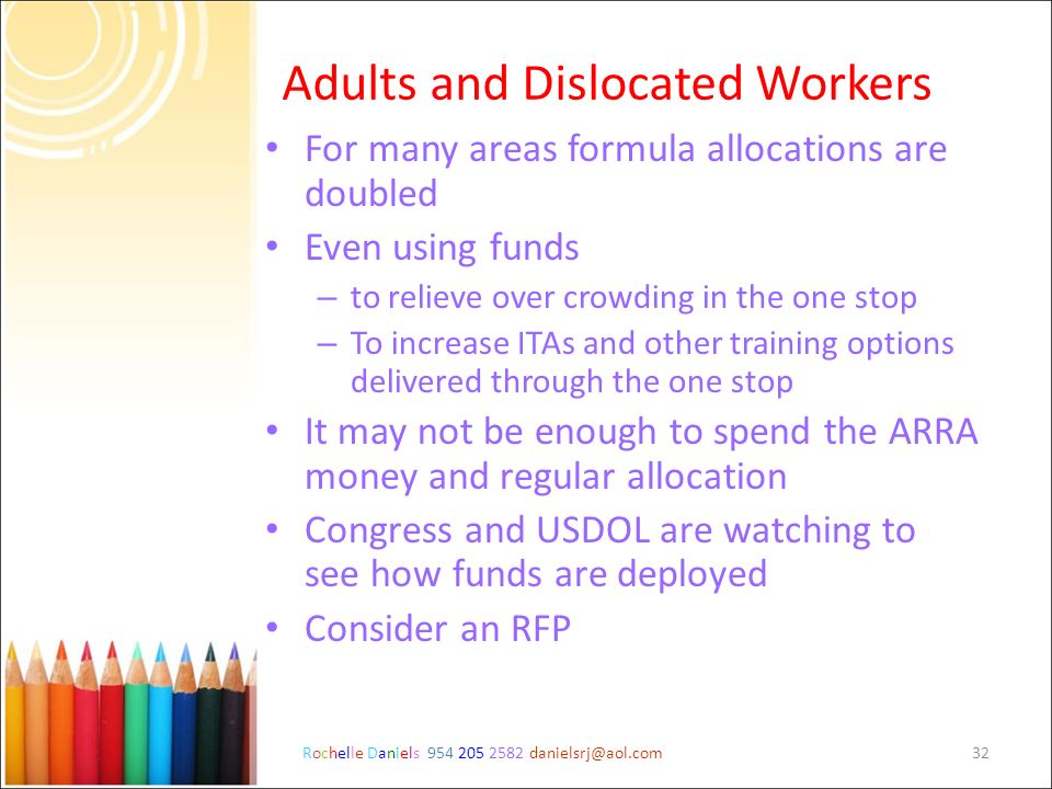 Adults and Dislocated Workers