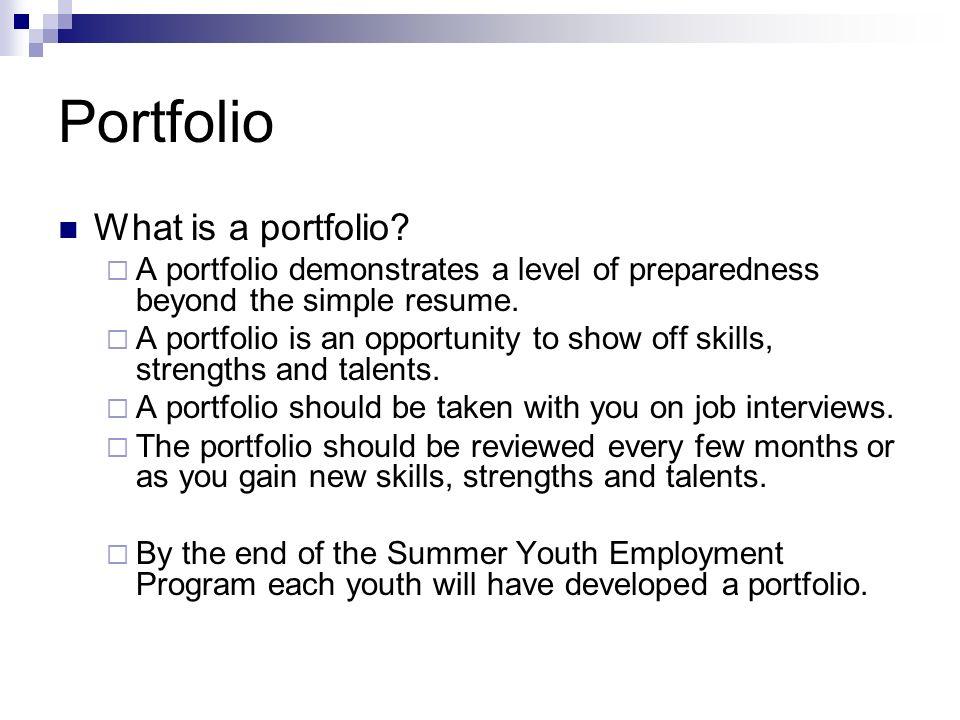 Portfolio What is a portfolio
