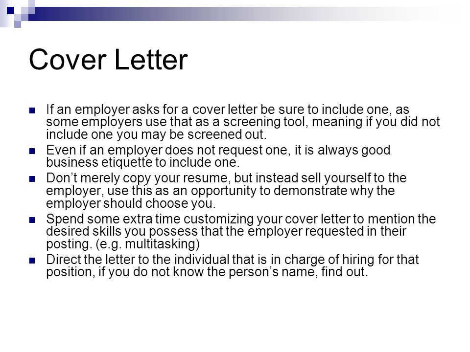covers letters Good cover letters communicate interest in and understanding of the position, motivation, self-confidence, how you will add value, and relevant information not in your résumé.