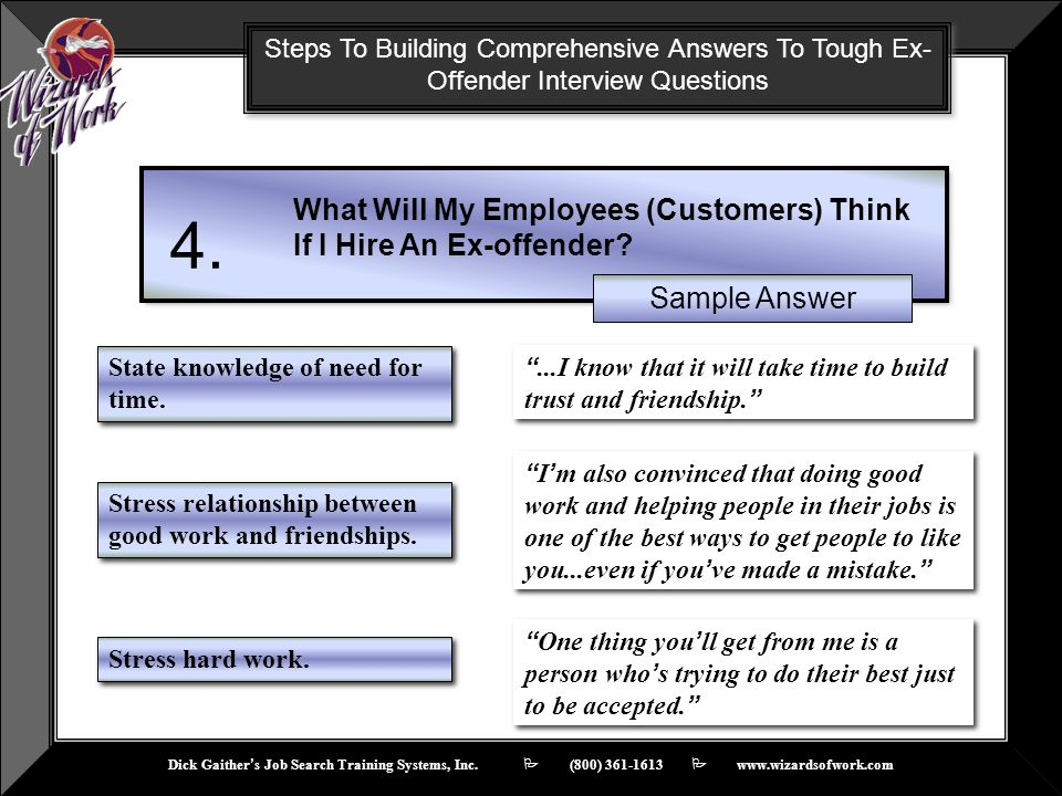 4. What Will My Employees (Customers) Think If I Hire An Ex-offender