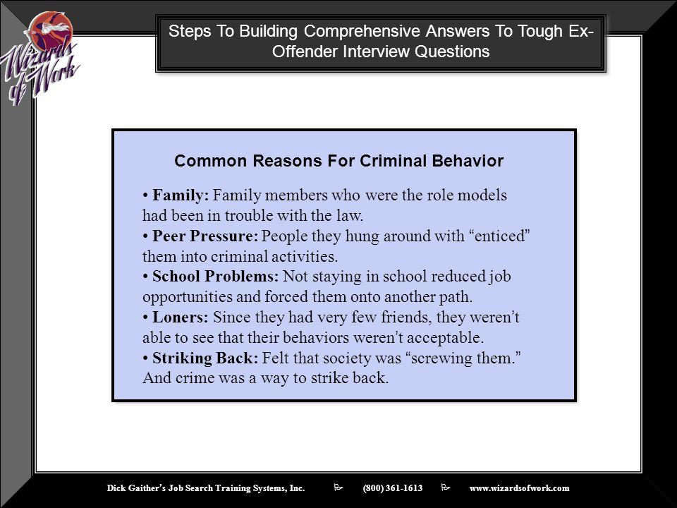 Common Reasons For Criminal Behavior