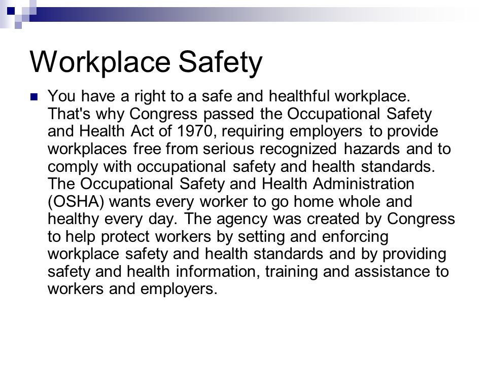 occupational safety and health act of 1970 pdf