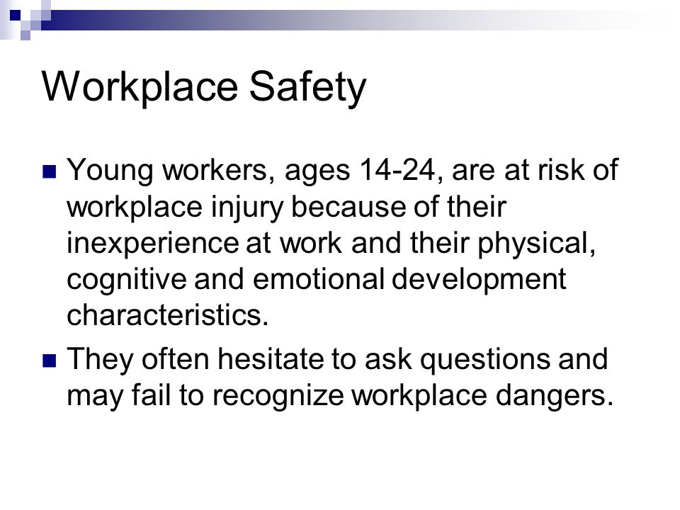 Workplace Safety