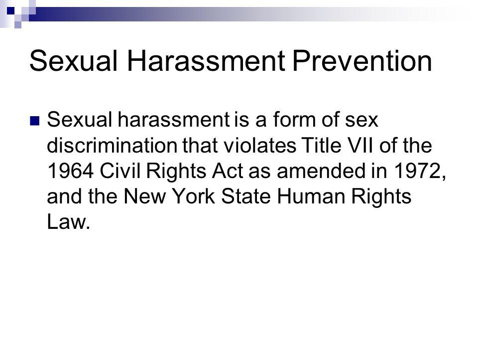 Sexual harrassment new york state health