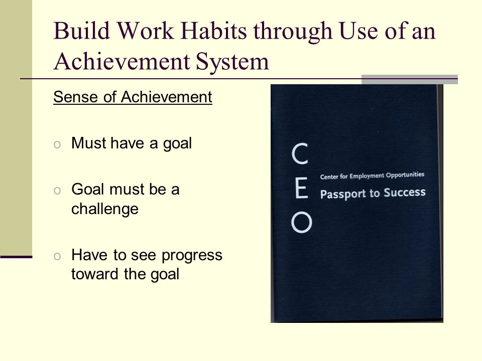Build Work Habits through Use of an Achievement System
