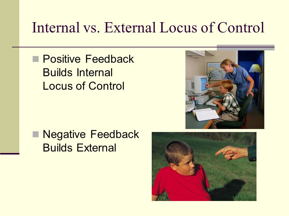 Internal vs. External Locus of Control