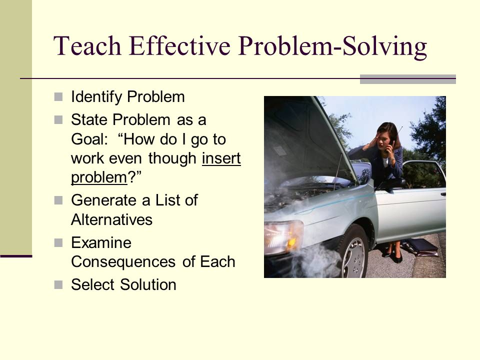 Teach Effective Problem-Solving