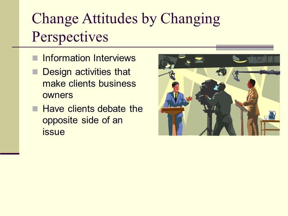 Change Attitudes by Changing Perspectives