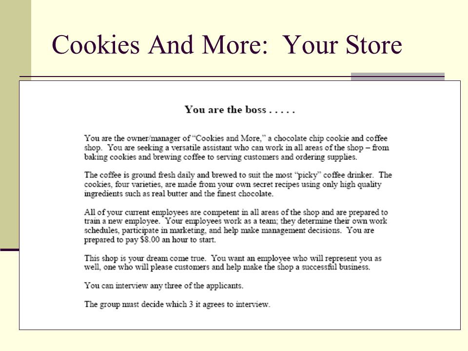 Cookies And More: Your Store