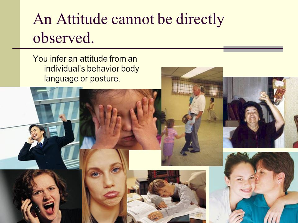 An Attitude cannot be directly observed.