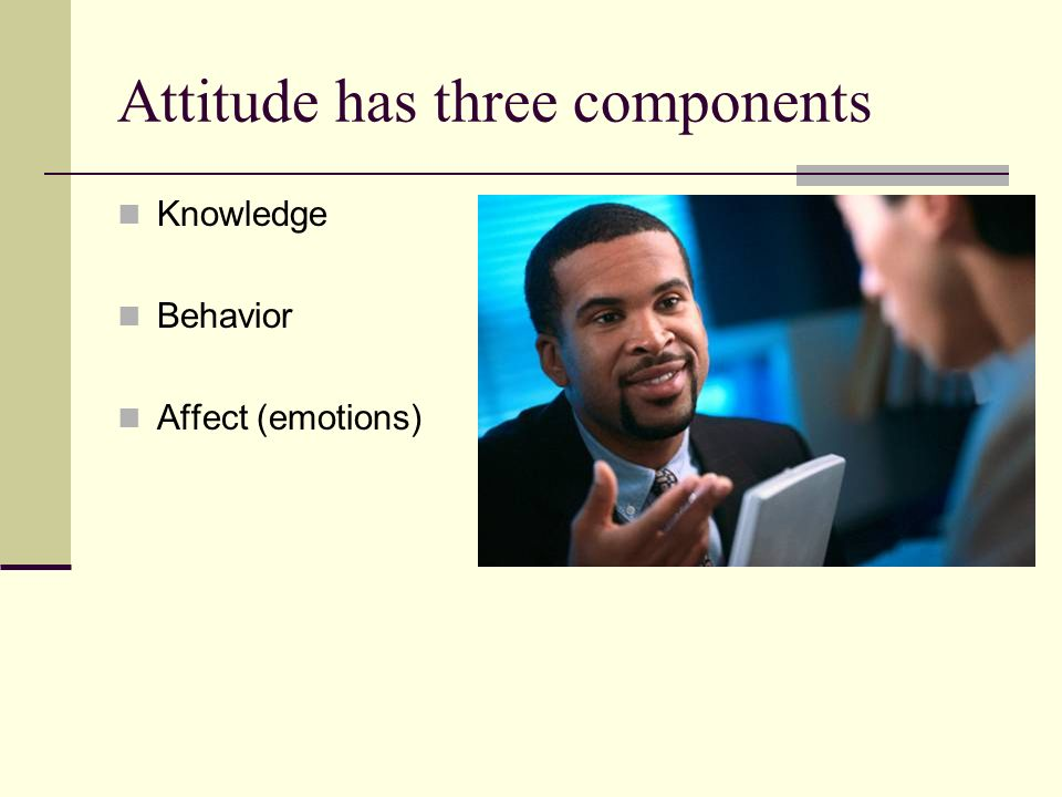 Attitude has three components