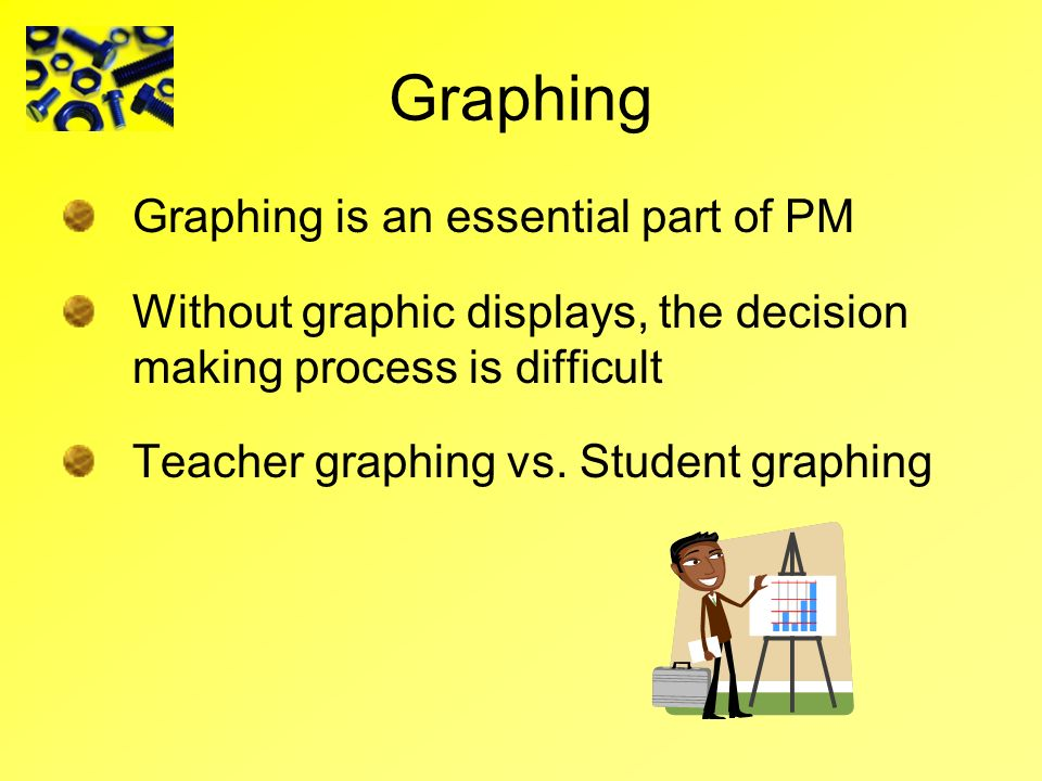 Graphing Graphing is an essential part of PM