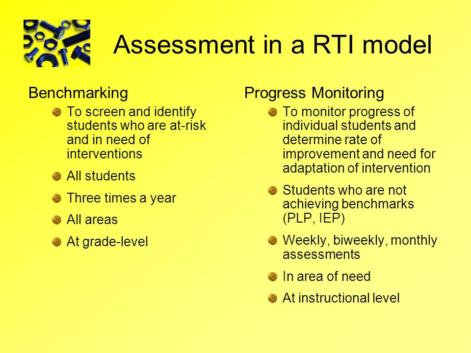 Assessment in a RTI model