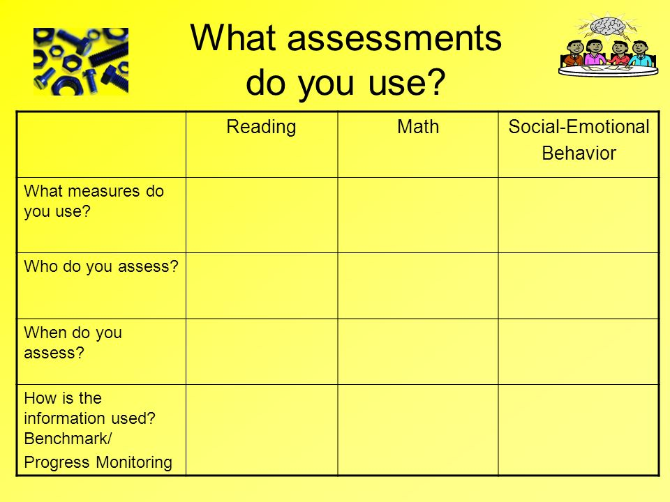 What assessments do you use