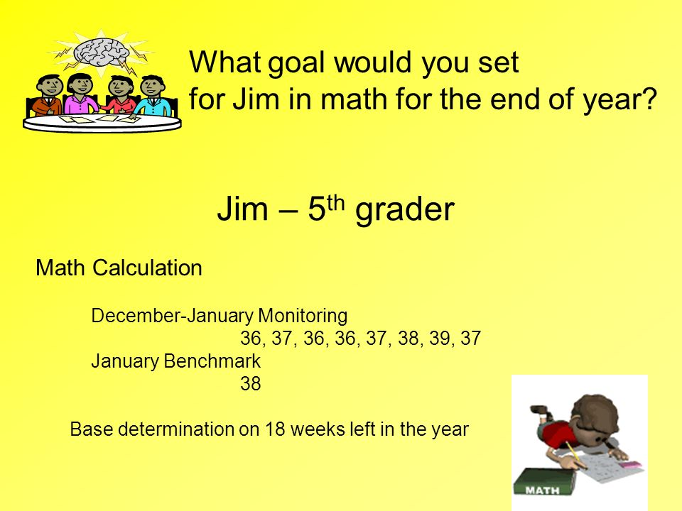 Jim – 5th grader What goal would you set