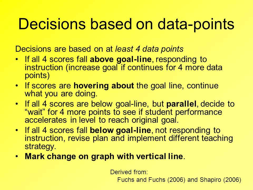 Decisions based on data-points