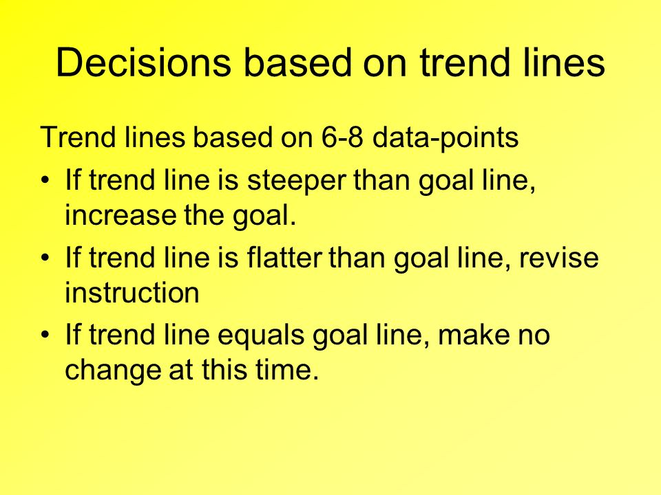 Decisions based on trend lines