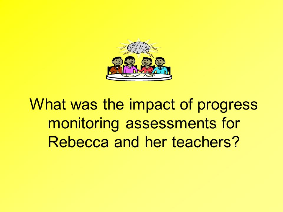 What was the impact of progress monitoring assessments for Rebecca and her teachers
