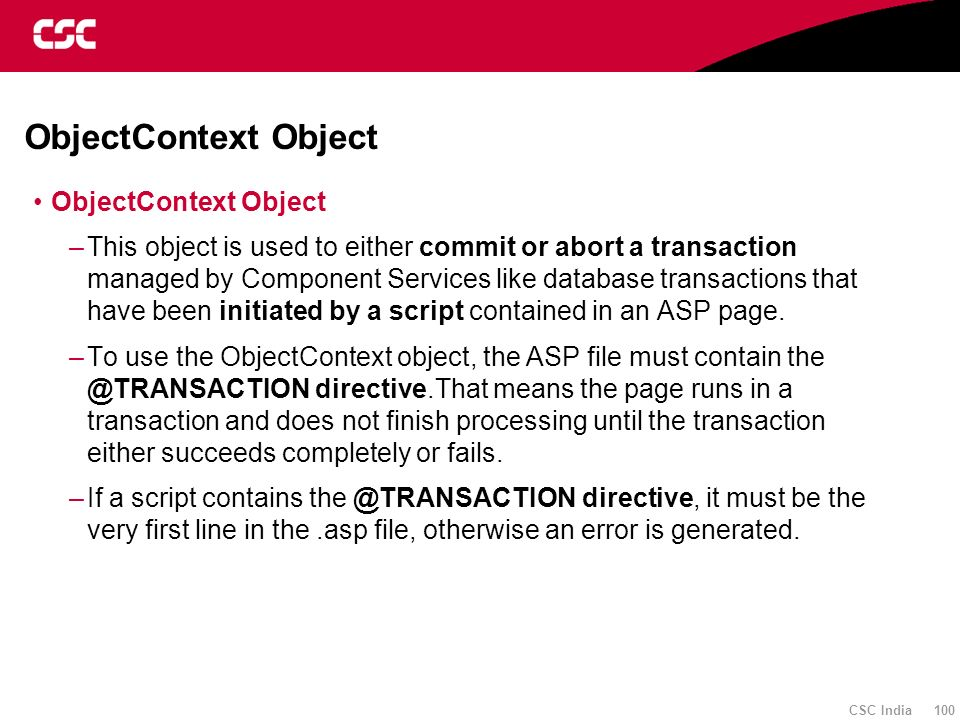 ObjectContext Object ObjectContext Object