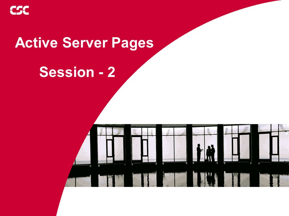 Active Server Pages Session - 2