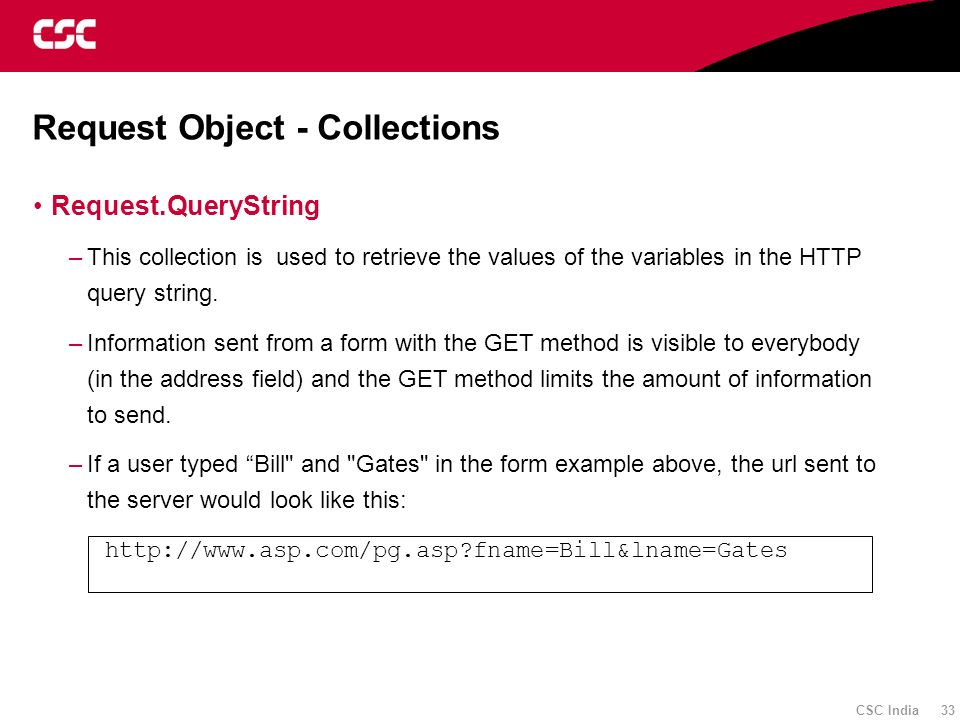 Request Object - Collections