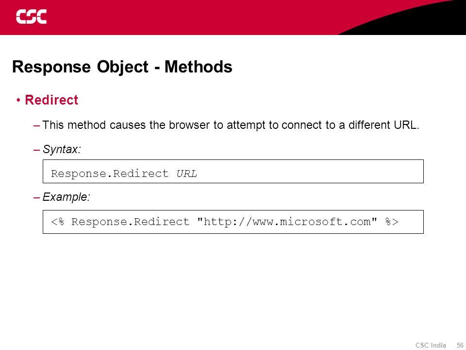 Response Object - Methods