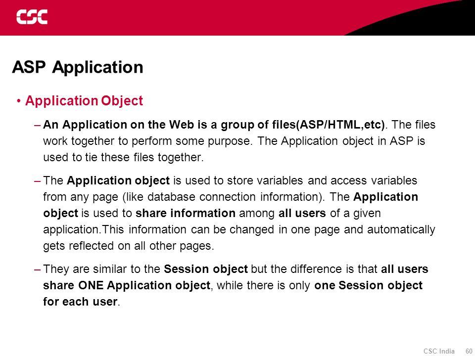 ASP Application Application Object