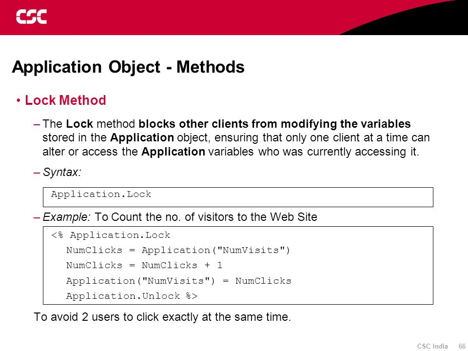 Application Object - Methods