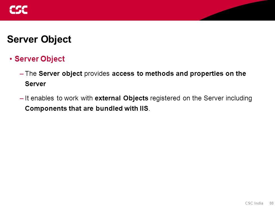 Server Object Server Object