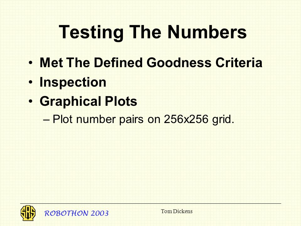 Testing The Numbers Met The Defined Goodness Criteria Inspection