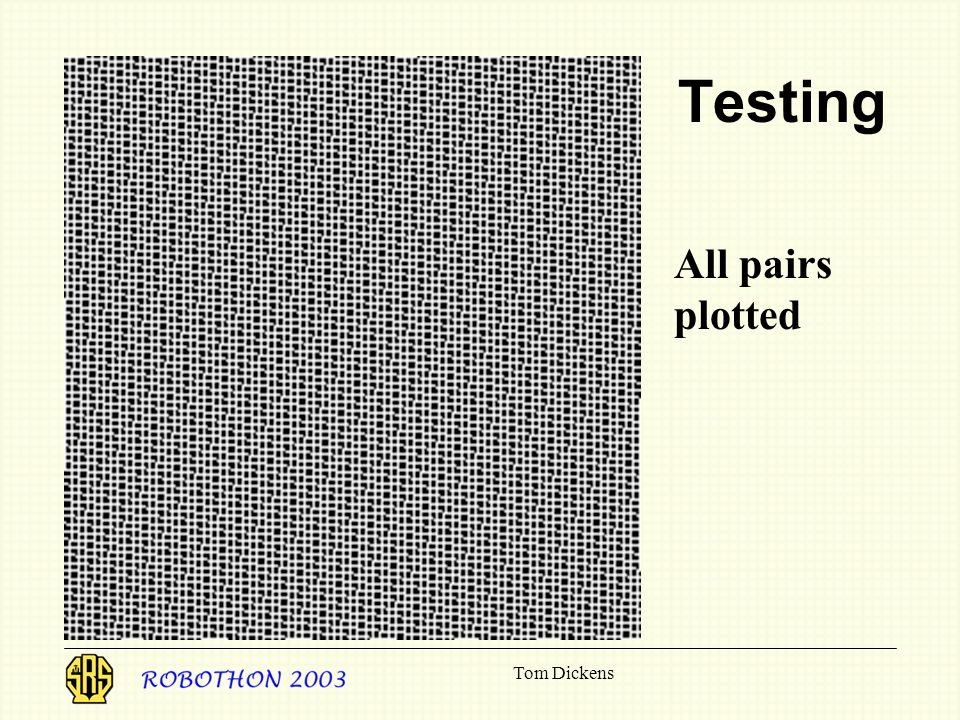 Testing All pairs plotted Tom Dickens