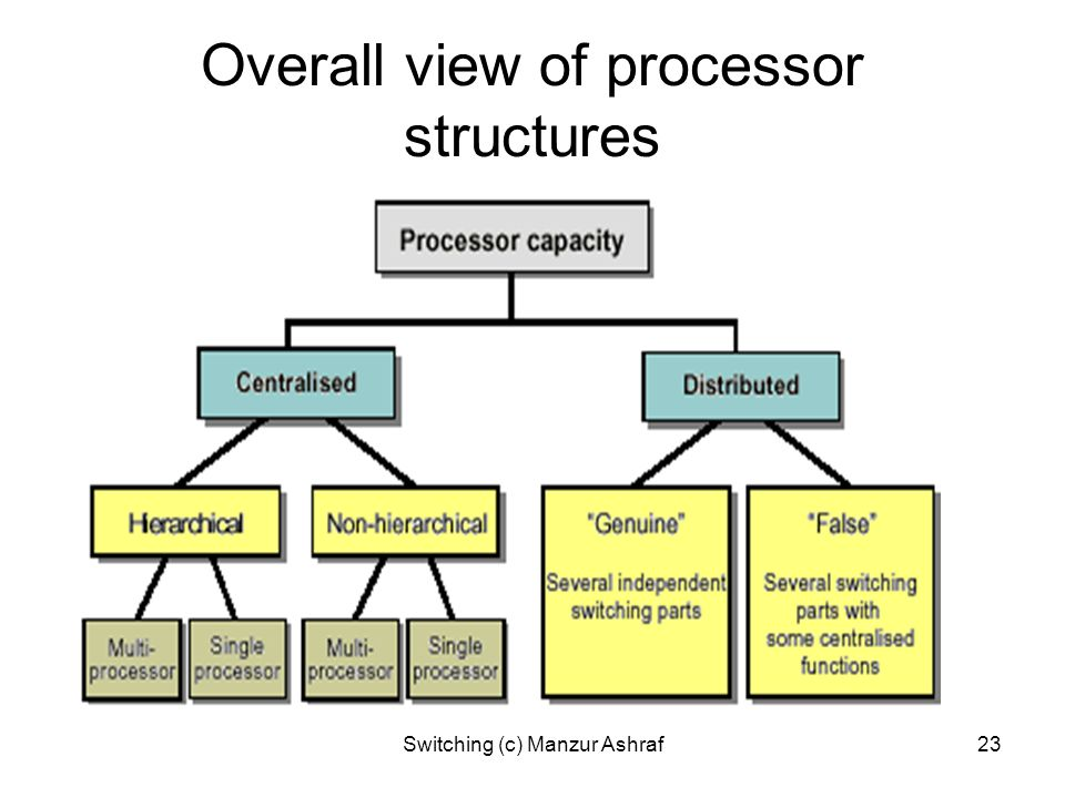 Overall view of processor structures