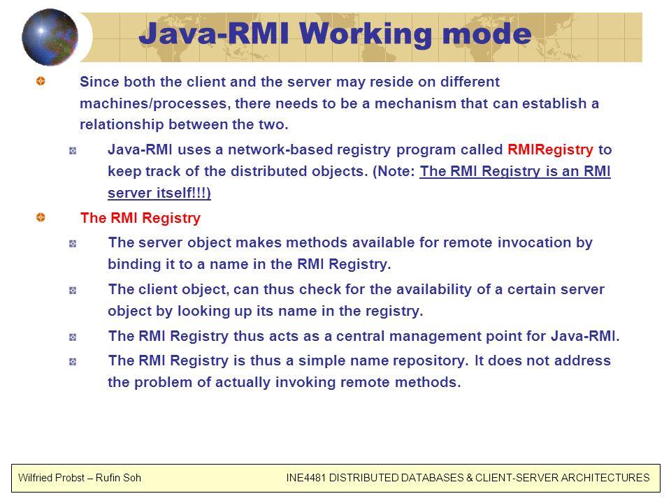 Java-RMI Working mode