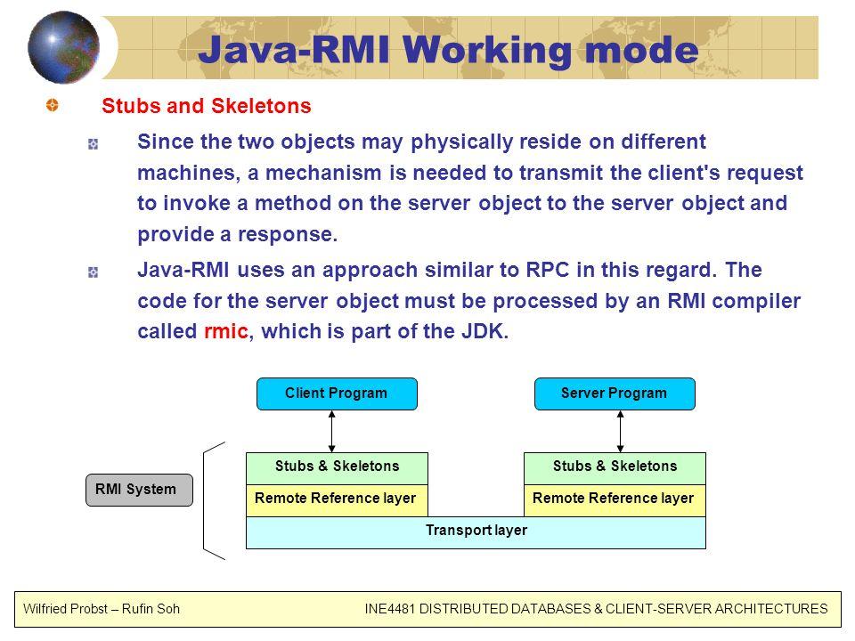 Java-RMI Working mode Stubs and Skeletons