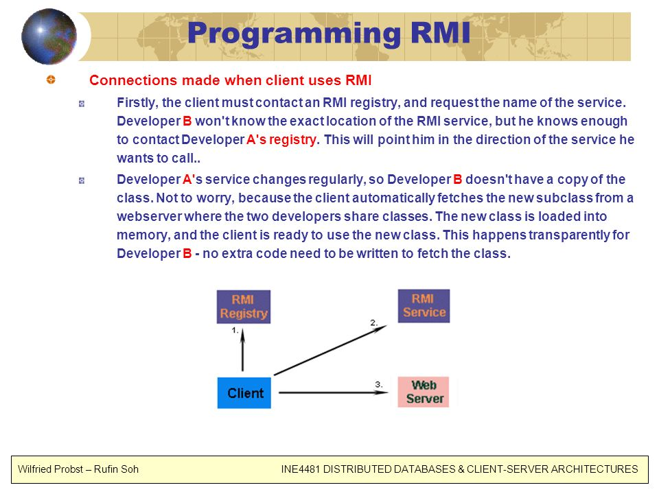 Programming RMI Connections made when client uses RMI