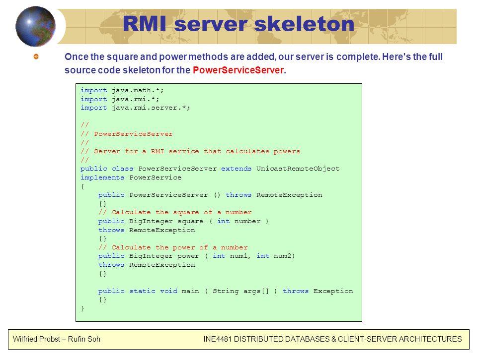 RMI server skeleton