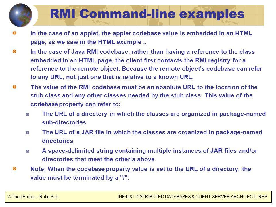 RMI Command-line examples