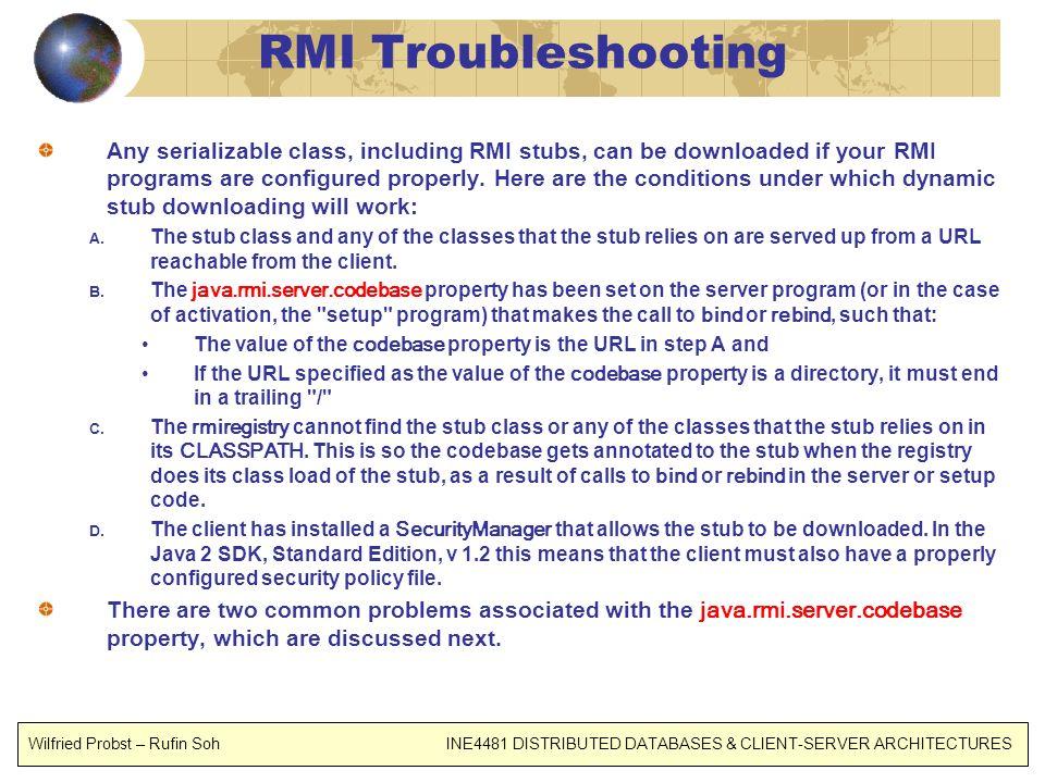 RMI Troubleshooting