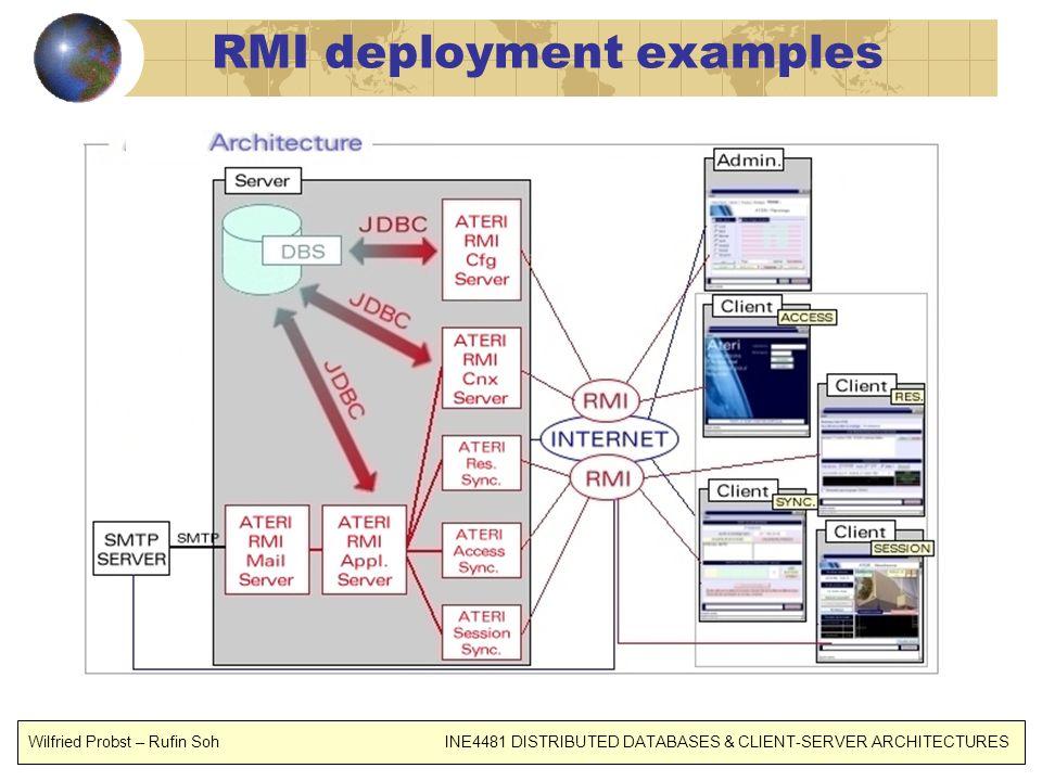 RMI deployment examples