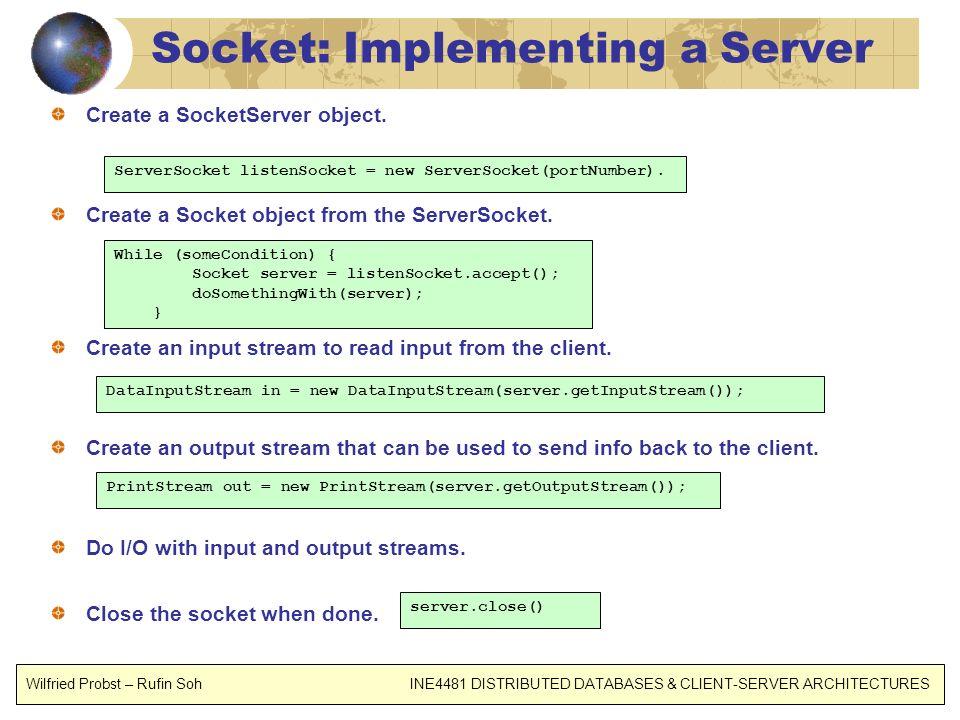 Socket: Implementing a Server