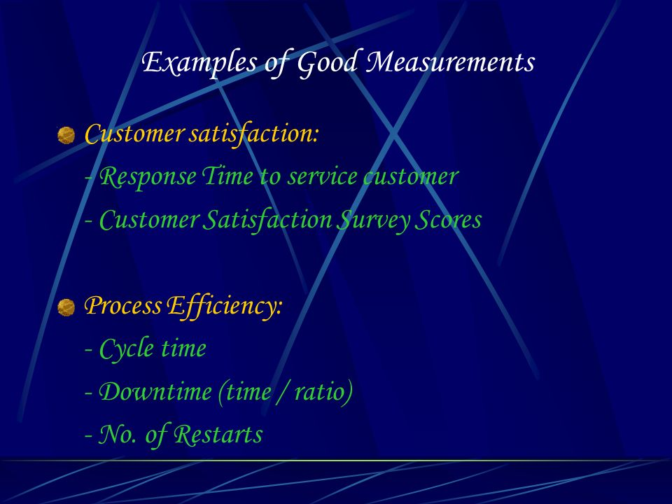 Examples of Good Measurements