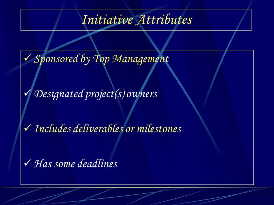 Initiative Attributes