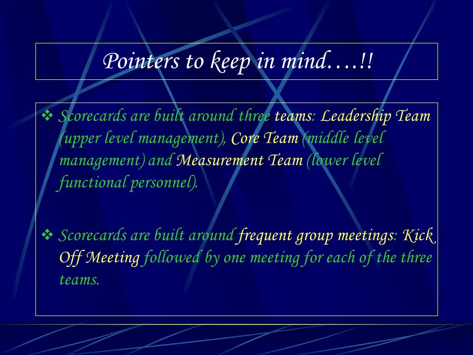 Pointers to keep in mind….!!