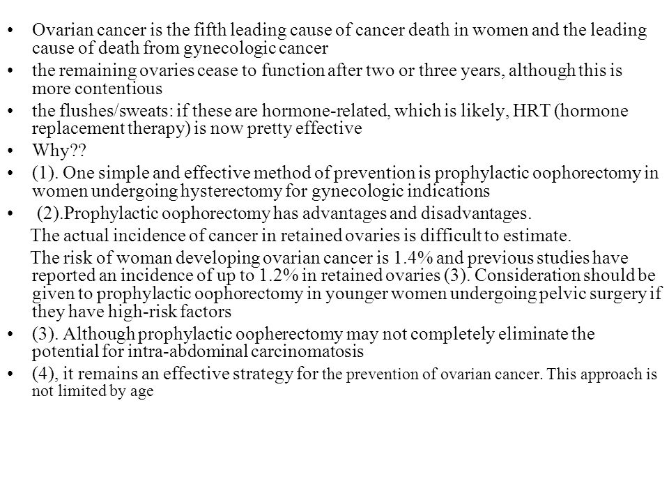 Ovarian cancer is the fifth leading cause of cancer death in women and the leading cause of death from gynecologic cancer