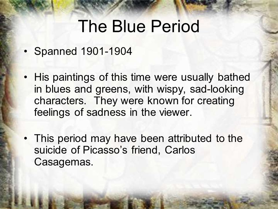 The Blue Period Spanned 1901-1904