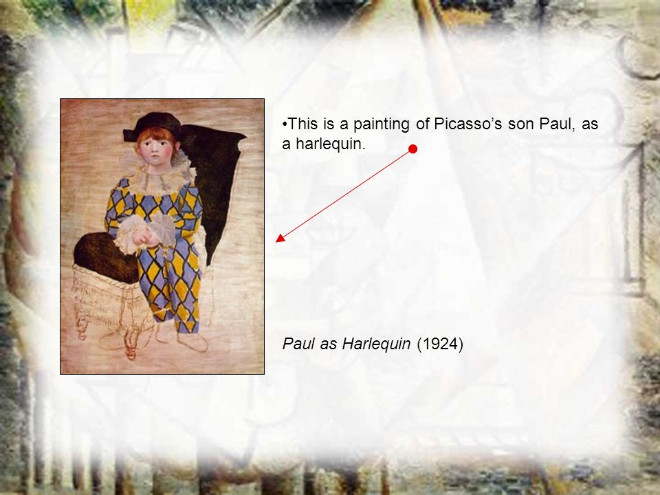 This is a painting of Picasso's son Paul, as a harlequin.